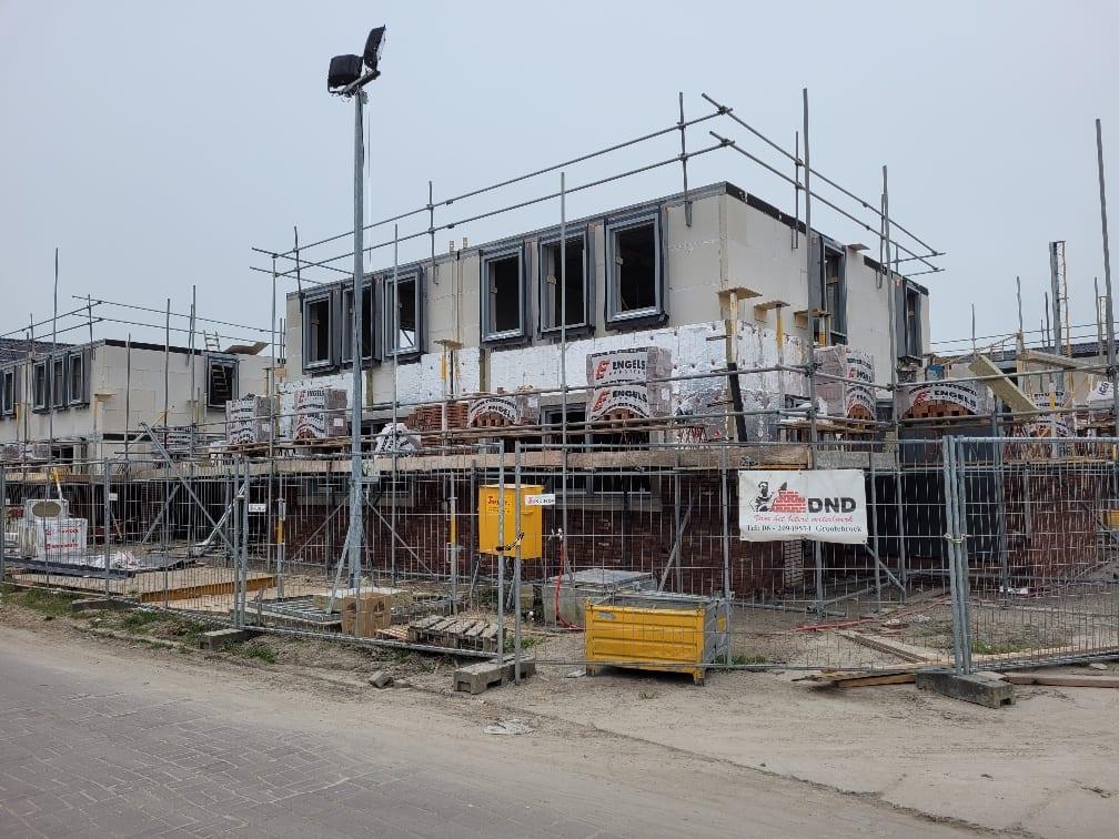 Voortgang bouw 31 woningen fase 3B en verkoop eiland 4