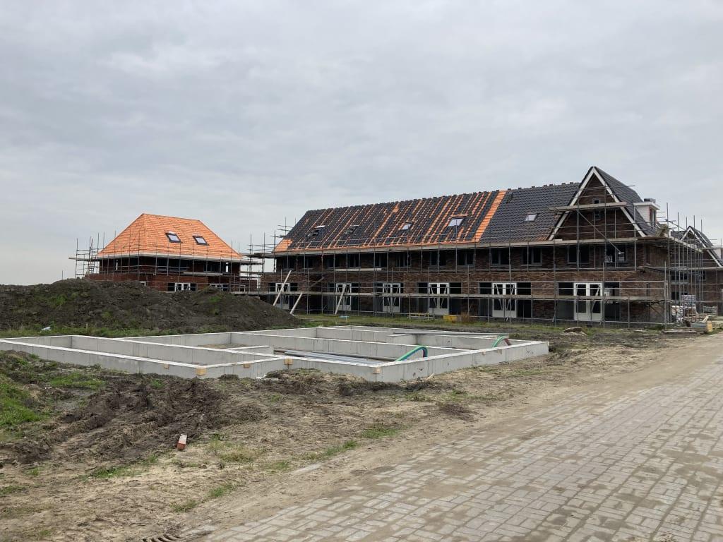 Voortgang bouw woningen eiland 3 en verkoop eiland 4
